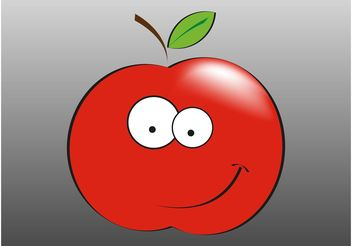 Smiling Apple - vector gratuit #147889