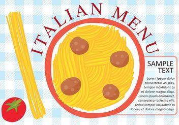 Italian Pasta Plate Vector - Free vector #147969