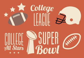 Football Vector Elements - Free vector #148069