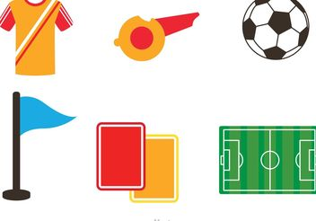 Soccer Icons Vectors - Free vector #148129
