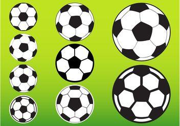 Soccer Balls Pack - Free vector #148159