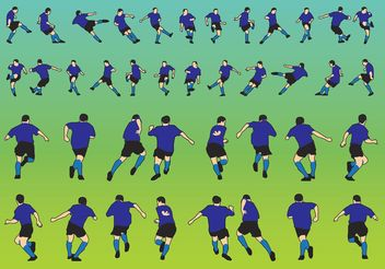 Football Players Vectors - бесплатный vector #148249