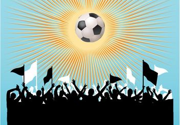Football Fans Vector - Free vector #148299