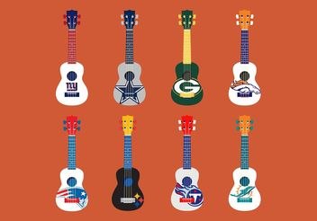 Football Themed Ukelele Vector Set - Free vector #148309