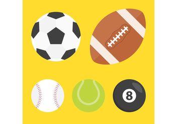 Vector Sport Balls - Kostenloses vector #148439