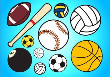 Sport Balls - Free vector #148469