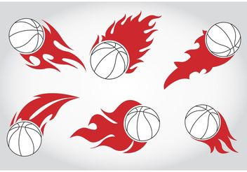 Basket Ball on Fire Vectors - Free vector #148479