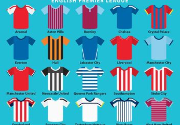 English Sport Jersey Vectors - vector #148509 gratis