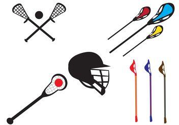 Vector Lacrosse Stick - Kostenloses vector #148619