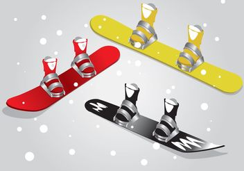 Snowboard Isolated Vectors - vector gratuit #148649