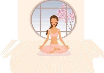 Yoga Vector - Kostenloses vector #148709