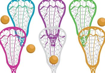 Colorful Lacrosse Stick Vectors - Free vector #148739