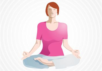 Yoga Lotus - Free vector #148749