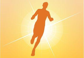 Runner Silhouette - Free vector #148789
