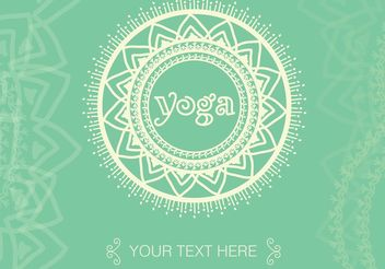 Boho Yoga Meditation Vector Background - Kostenloses vector #148849