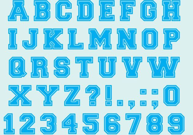 University Font Type Vectors - Free vector #148869