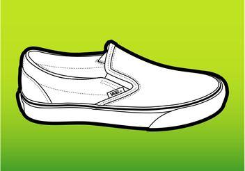 Vans Shoe - Free vector #149049