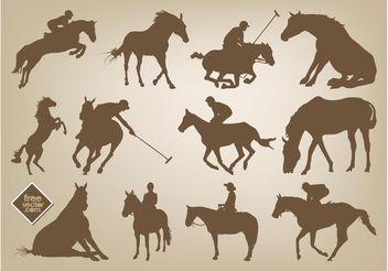 Horses Vectors - Free vector #149099