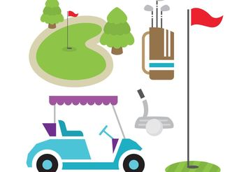 Golf Vector Items - vector gratuit #149119