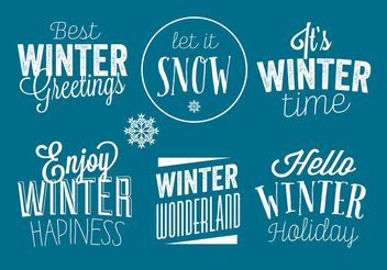 Winter badges - vector gratuit #149319