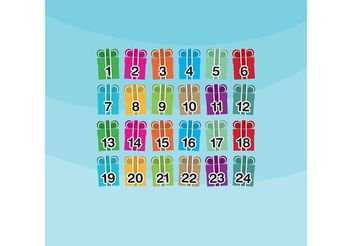 Christmas Gift Advent Calendar Vector - vector gratuit(e) #149329