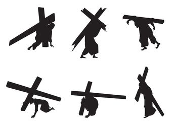 Vector Jesus Silhouettes - Free vector #149459