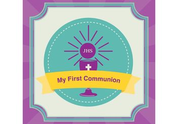 First Communion Invitation Background - vector gratuit #149479