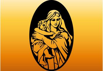 Mary And Jesus - vector gratuit #149489