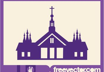 Church Silhouette Graphics - vector gratuit #149549