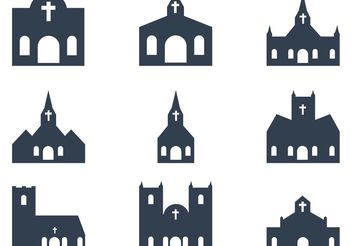 Church Vectors - vector gratuit #149589