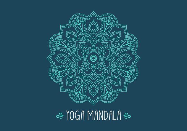 Free Ethnic Fractal Mandala Vector - Free vector #149749