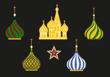 Russia Kremlin Vector Set - vector gratuit #149799