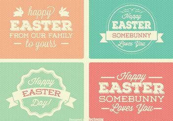 Vintage Easter Labels Vectors - Free vector #149819