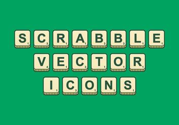 Scrabble Outlined Vector Icons - Free vector #149869