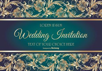 Elegant Wedding Card Illustration - Free vector #149889