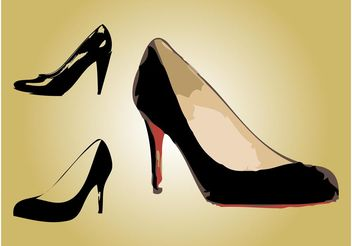 Fashionable Shoes - vector gratuit #149909