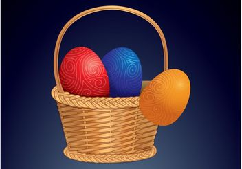 Easter Basket - Free vector #150029