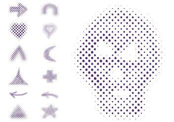 Halftone Symbols - Free vector #150069
