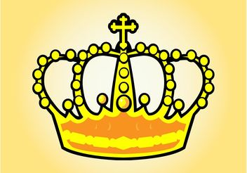 Cartoon Crown - Kostenloses vector #150079
