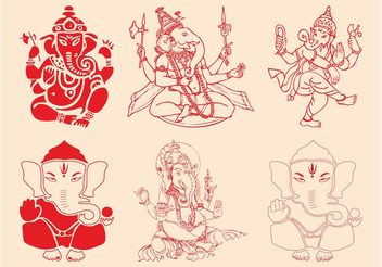 Ganesha Set - Free vector #150109