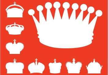 Crowns Silhouettes - vector #150119 gratis