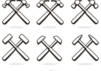 Cross Hammer Icons Vector Pack - Free vector #150129