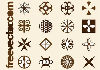 Tribal Icons Graphics - Free vector #150139