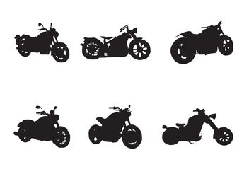 Free Motorcycle Vector Silhouettes - Free vector #150149