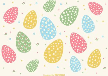 Hand Drawn Easter Egg Background Vector - Free vector #150199