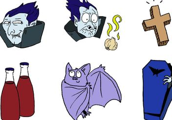Cartoon Dracula Vector Set - Free vector #150249