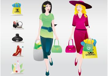 Shopping Women - Free vector #150319
