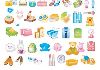 Shopping Vectors - Free vector #150359