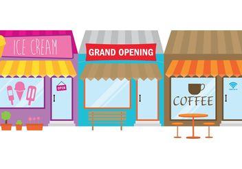 Grand Opening Store Sign - vector #150389 gratis