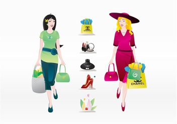 Shopping Elements - vector gratuit #150419